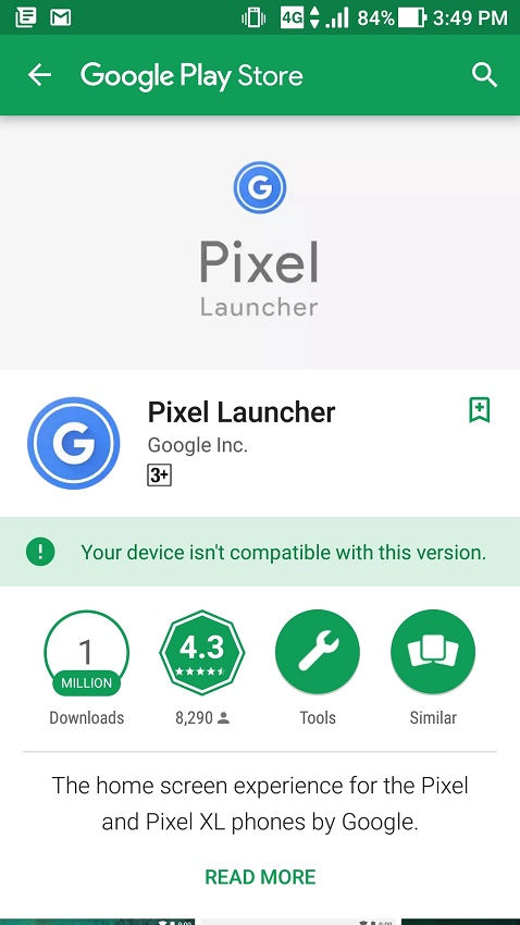 pixel launcher play store