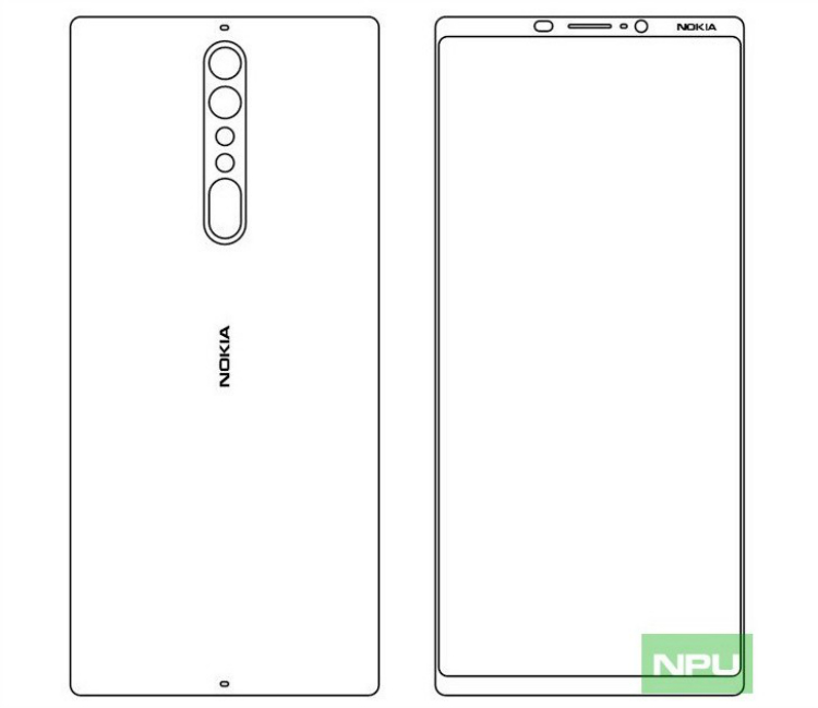 A rough sketch of the supposed Nokia 9 (via NPU)